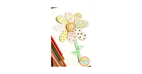 Printable Spring Flower Coloring Craft To Make With Your