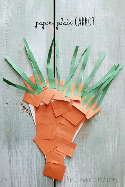 Carrot Craft Preschool Craft made from construction paper