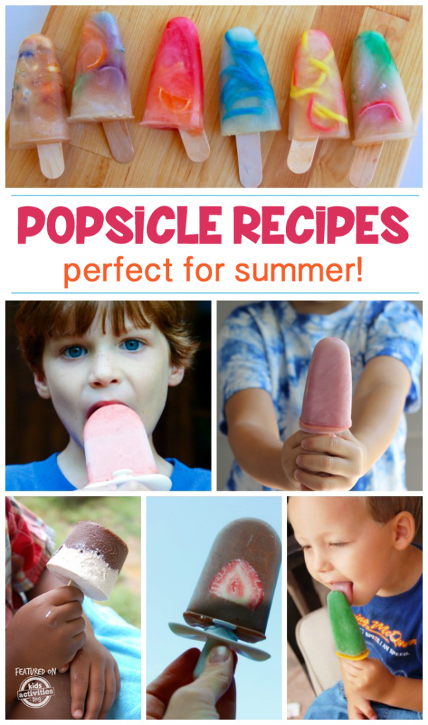 Popsicle Recipes for Kids - 50 easy popsicle recipes that work in traditional popsicle shapes or quick pop-makers like Zoku work