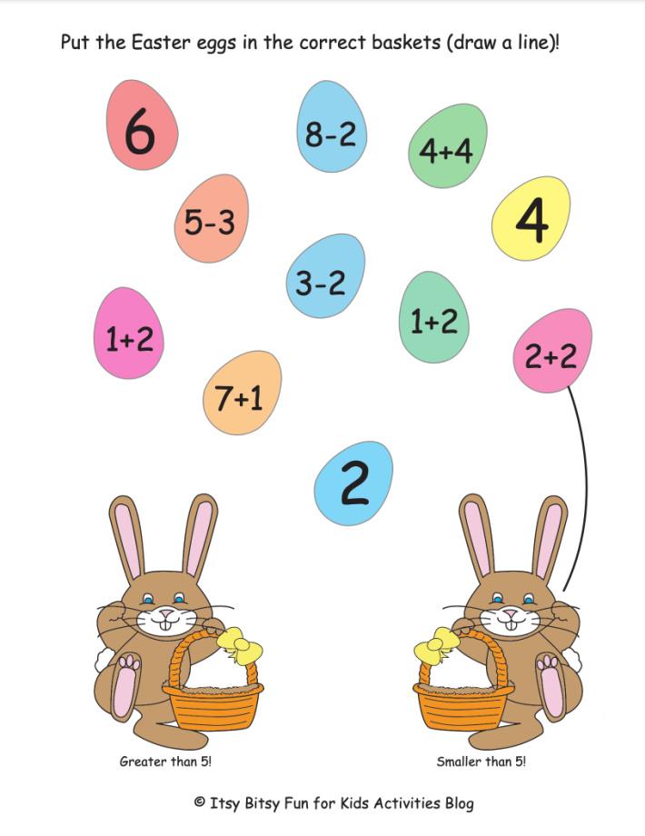 Free Printable Easter Addition & Subtraction, Multiplication & Division Math  Worksheets - ToysMatrix