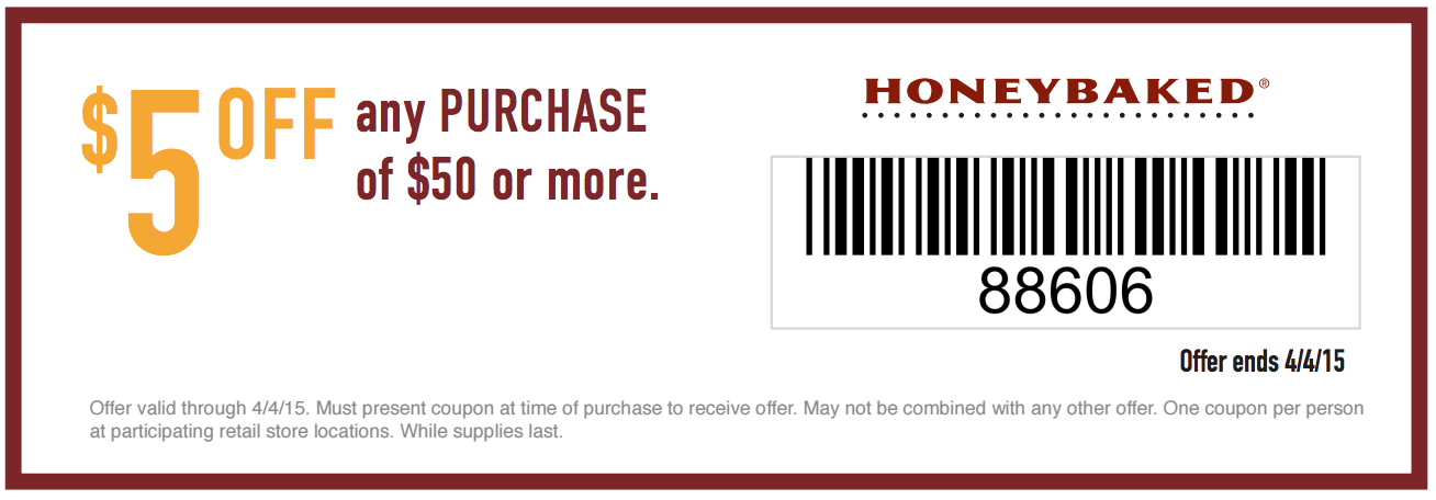 HoneyBaked Ham Easter Coupon