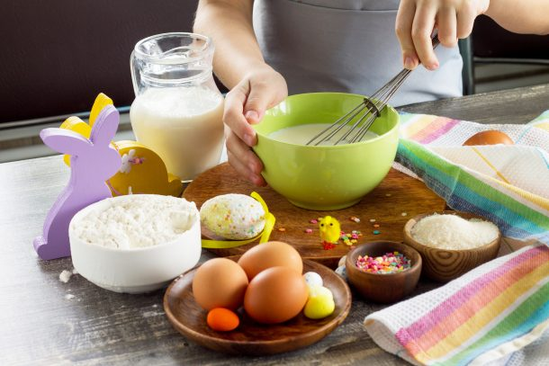 Spring Chick Egg Breakfast Sandwiches
