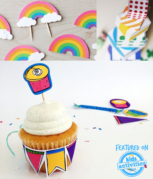 printable rainbow party