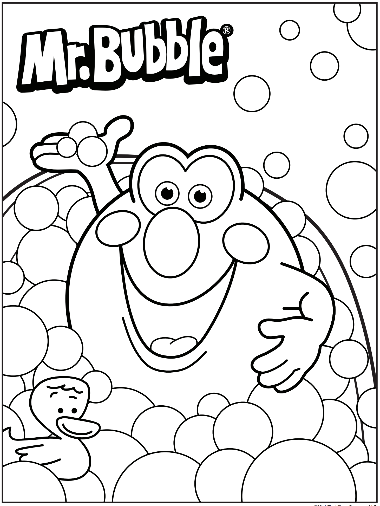 3d coloring pages - Mr Bubble Coloring Page
