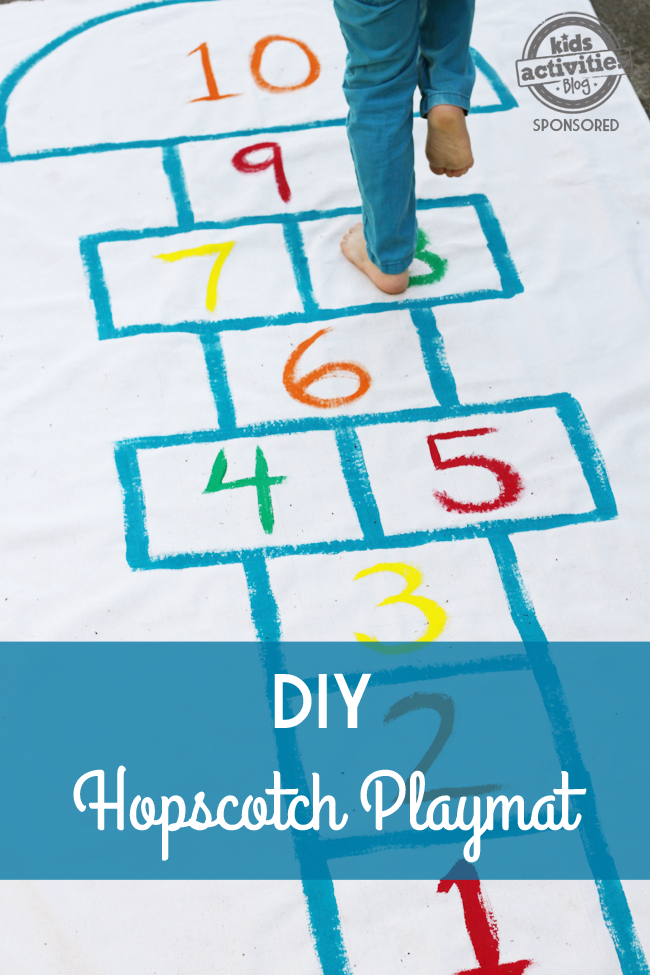 diy hopscothch playmat