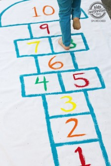 DIY Hopscotch Playmat