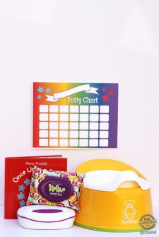Potty Training Survival Kit with Free Printable Potty Chart