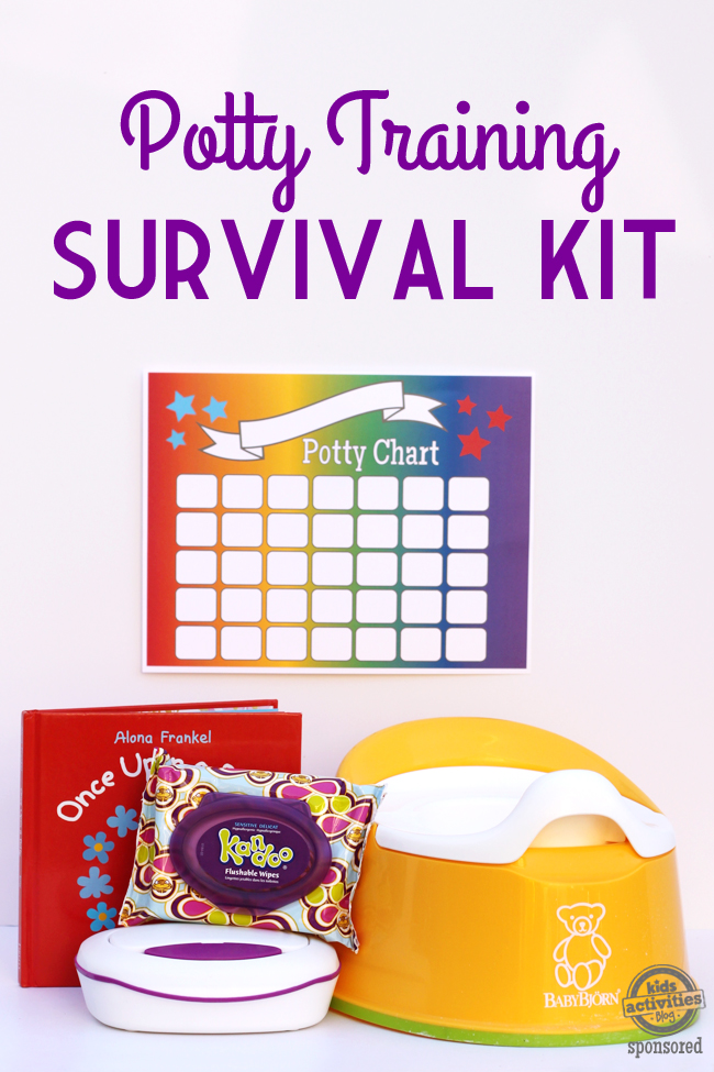 photo relating to Free Printable Potty Chart titled Potty Doing exercises Survival Package with No cost Printable Potty Chart
