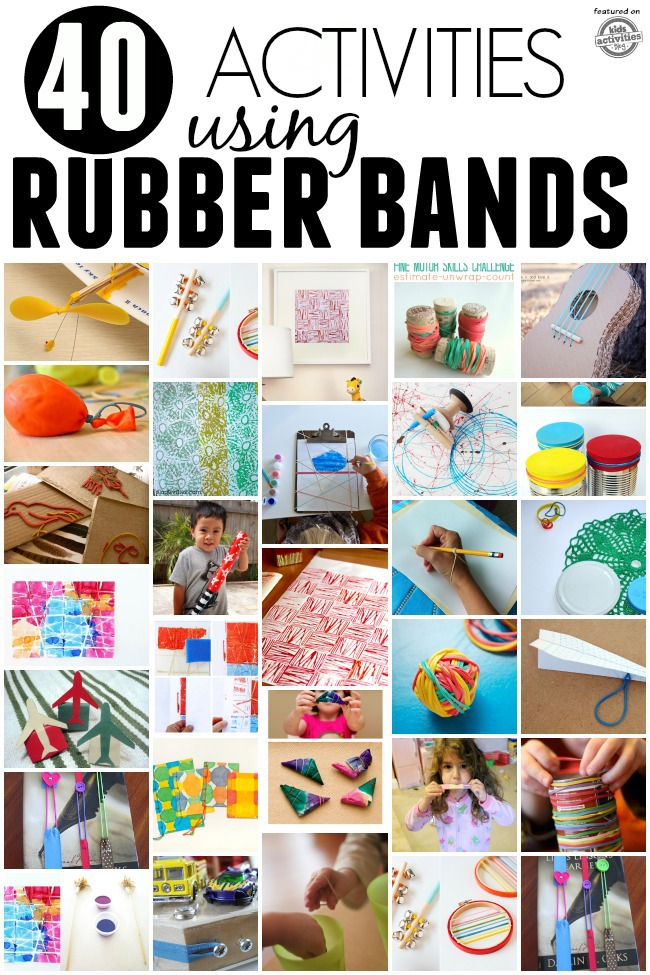 rubber bands activities