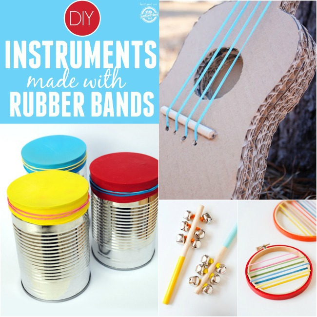 how to make a guitar with rubber bands and box
