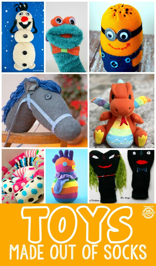 Became Toys made from socks and