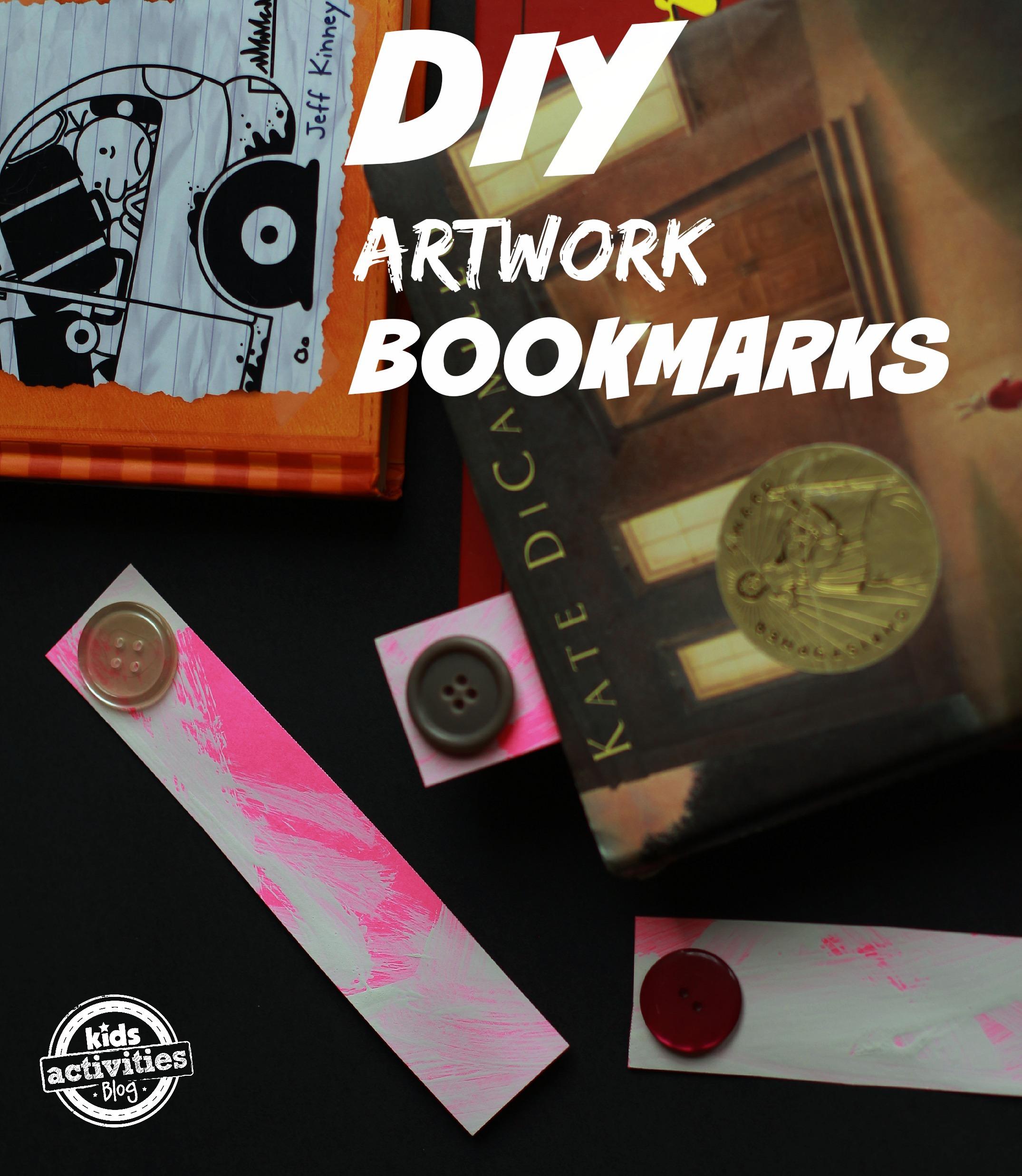 DIY Artwork Bookmarks