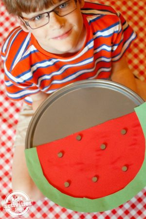 Watermelon Counting Game - Smart School House Crafts for Kids