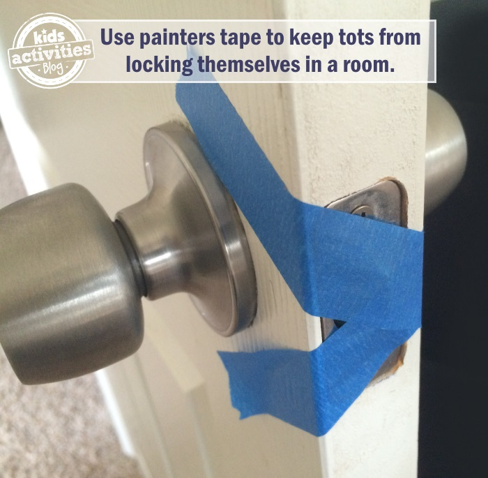 door knob tip for toddlers so they don't lock themselves in the room anymore