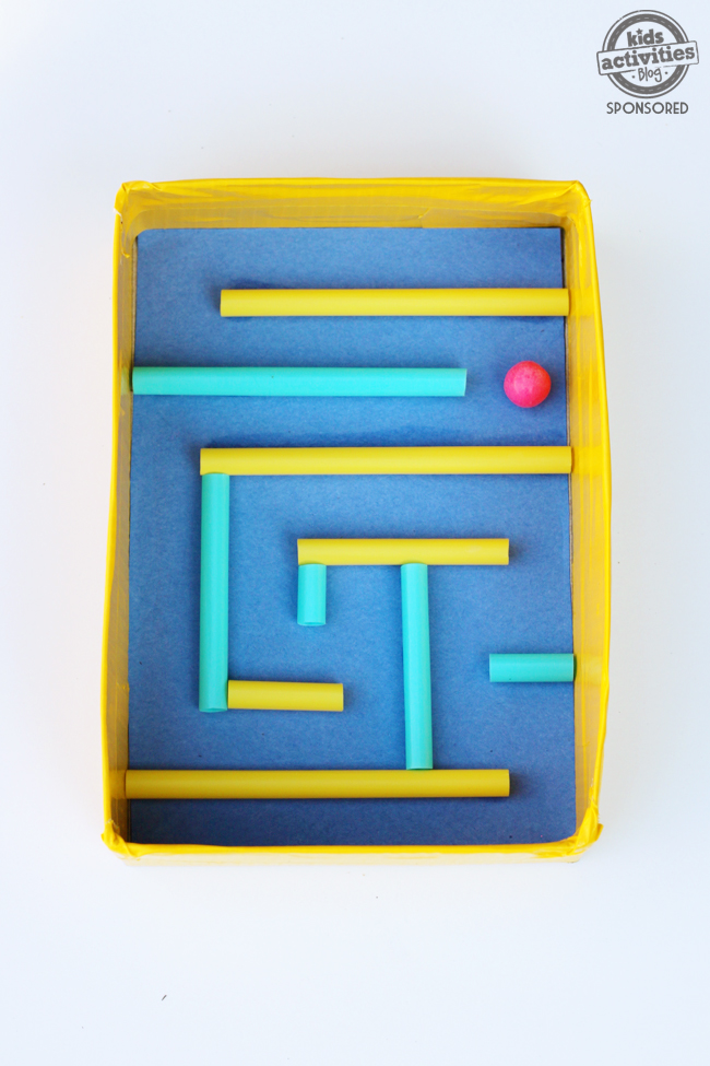 Kid Craft DIY Marble Maze