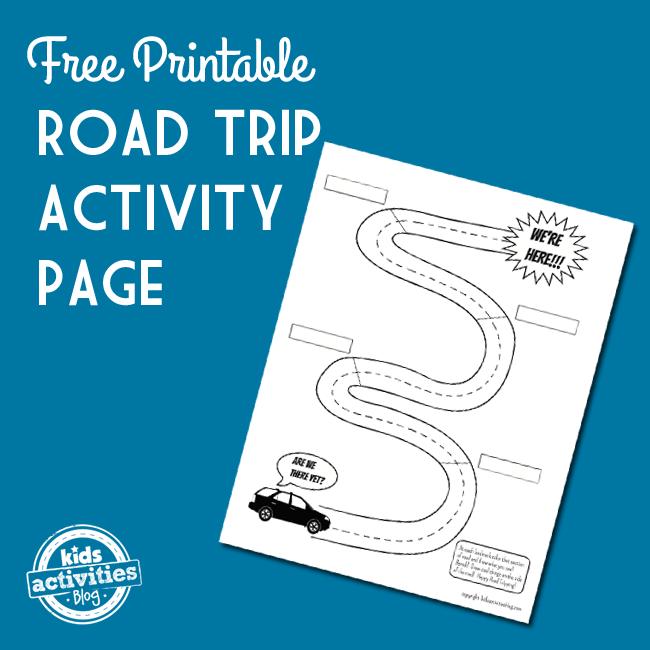 road trip free printable