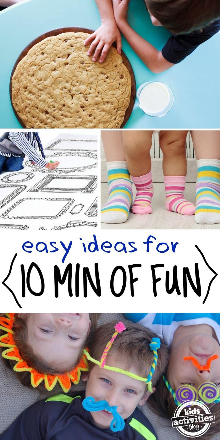 Easy kids activities in less than ten min