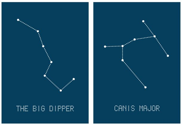 Constellation Sewing Cards - Set 2