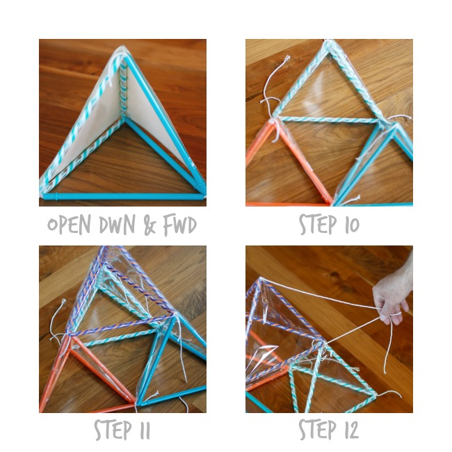 Pyramid Kite - Steps 10 to 12 - Kids Activities Blog