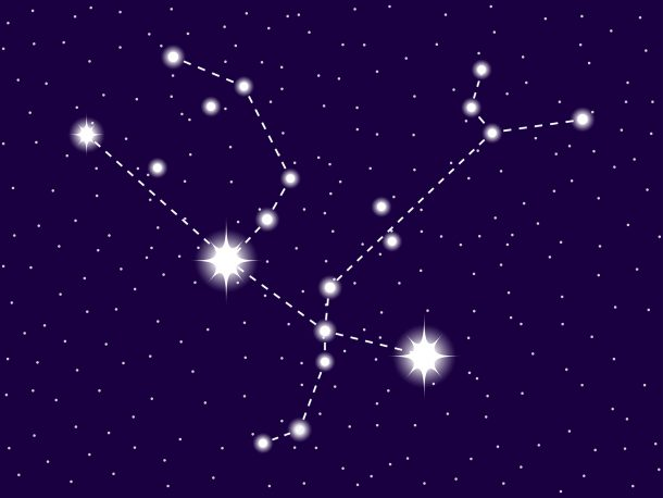 Andromeda Constellation inspired lacing cards