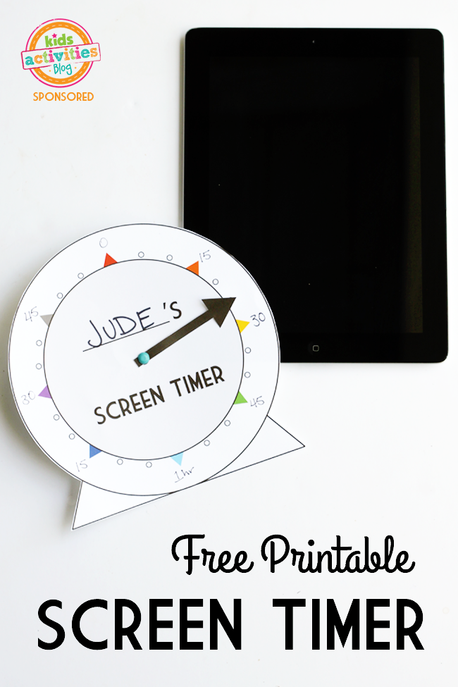 free printable screen timer