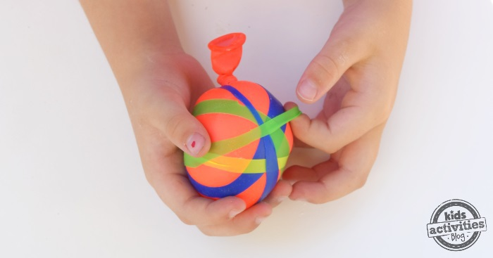 balloons into strips and wrap them around your balloon ball fun