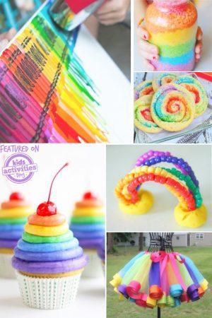 kids rainbow ideas