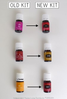 new to old essential oil kit oil comparison