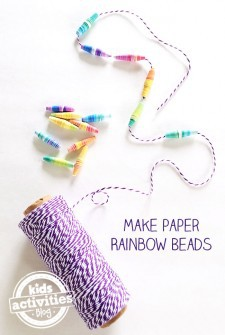 Make Your Own Rainbow Paper Beads