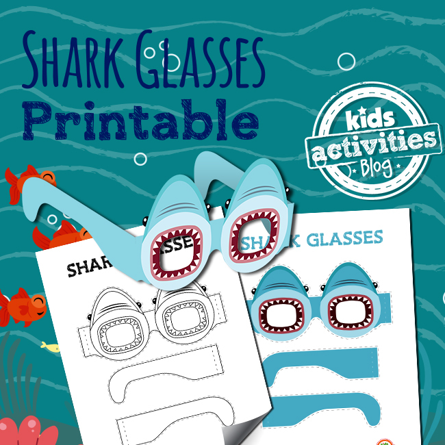 Shark Week Glasses for Shark Week!