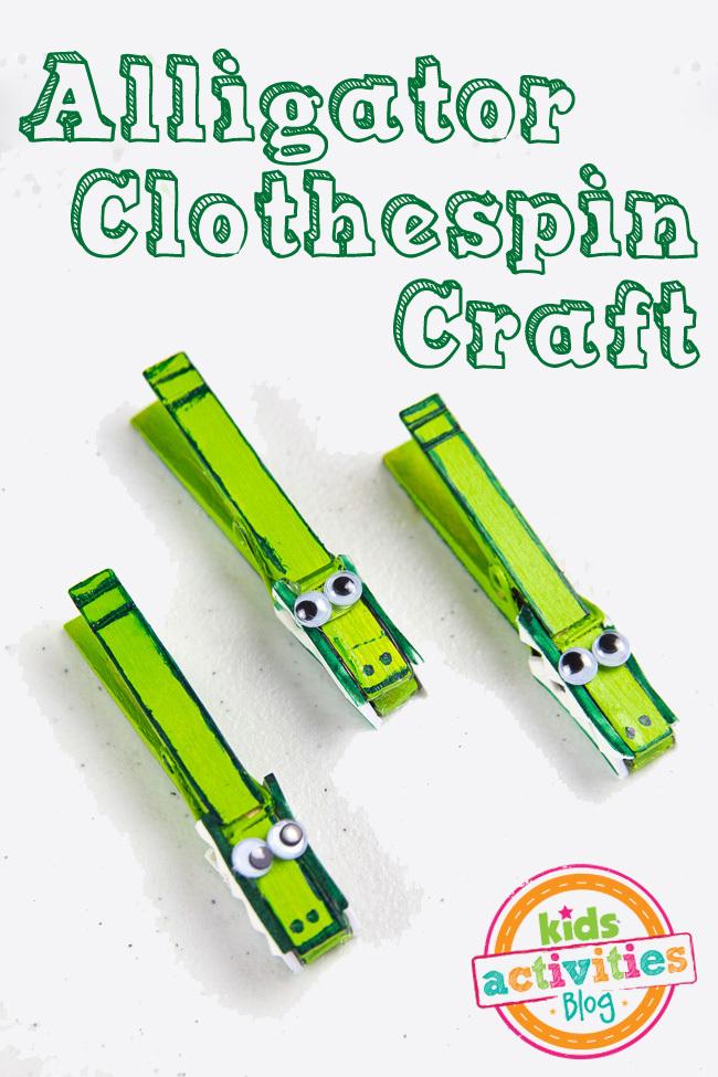 Alligator Clothespin Craft