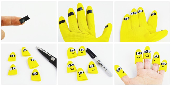 Minion Finger Puppets Steps