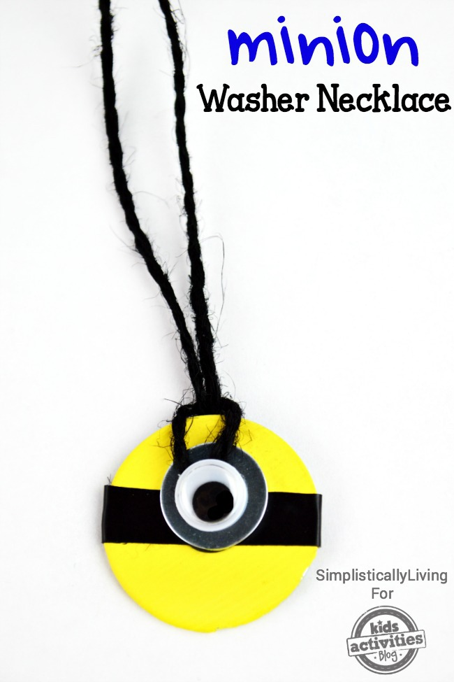 Minion Washer Necklace