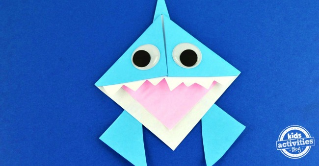 Origami Shark Bookmark Facebook