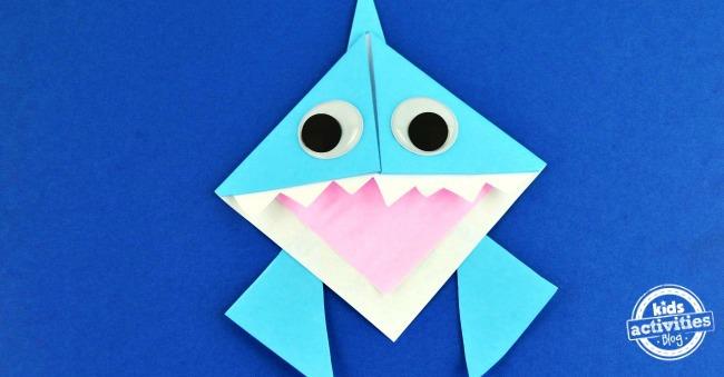 Origami Shark Bookmark Facebook