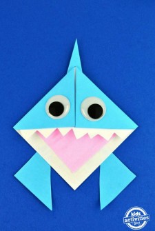 Origami Shark Bookmark Featured