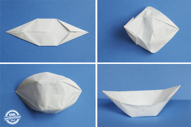 how to fold a paper boat