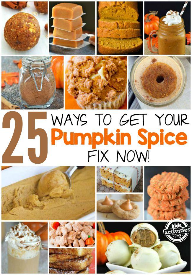 25 Ways to Get your Pumpkin Spice Fix Now
