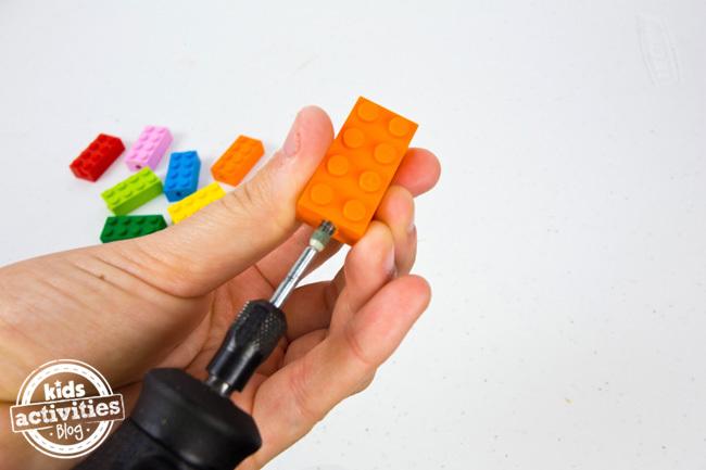 LEGO Bracelet Drilling Hole