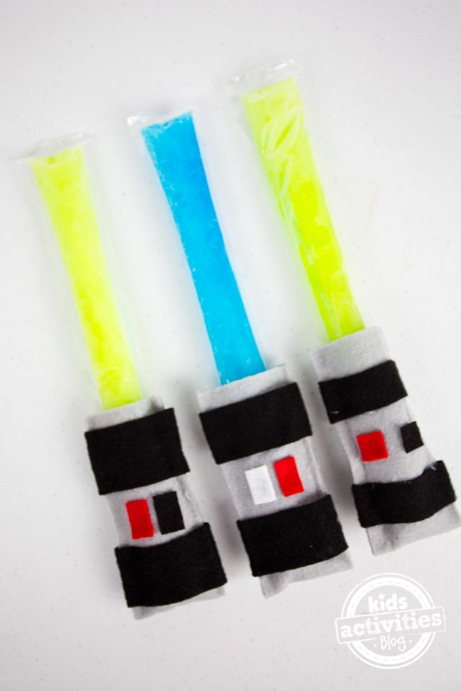 Light Saber Crafts Frozen Pops