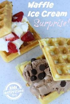 Waffle Ice Cream Surprise!