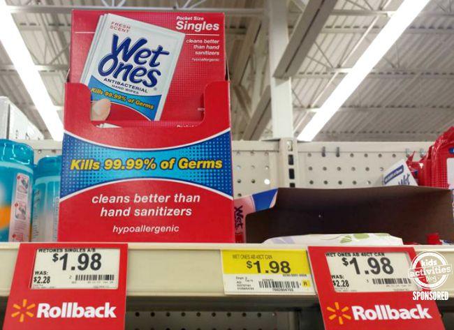 Wet Ones at Walmart