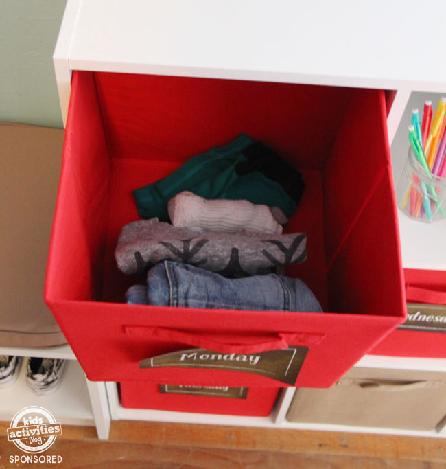 closet made cubes for clothes