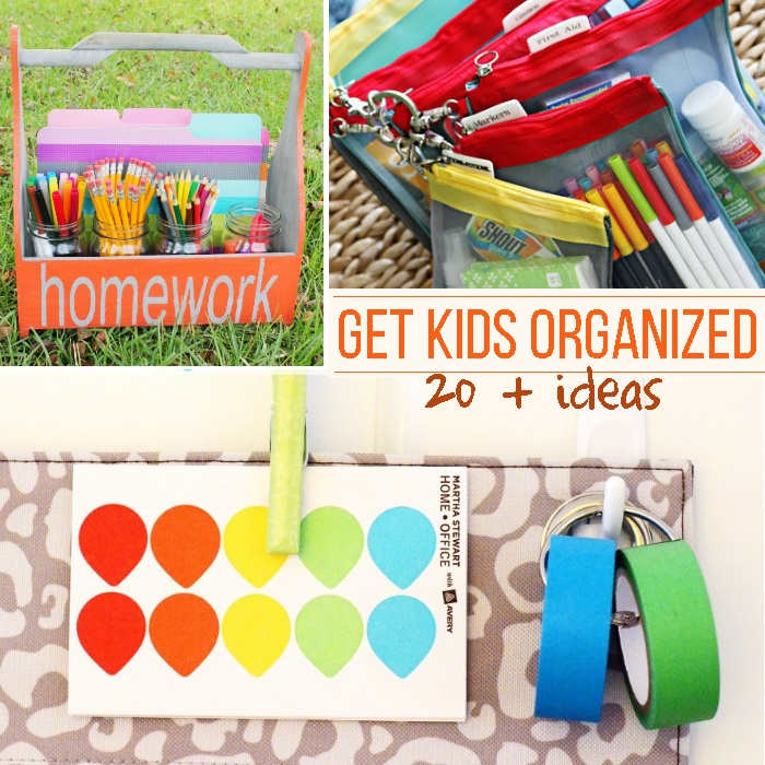 organize kids learning