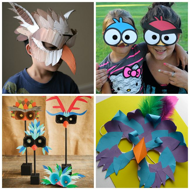 Bird Mask DIY for Kids