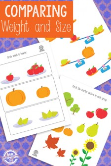 Comparing Weight and Height Printable