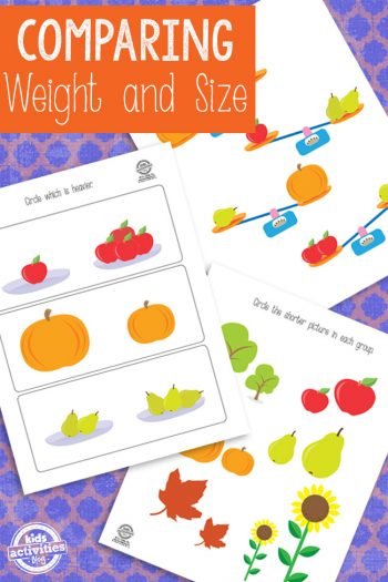 Comparing Weight and Size Printable