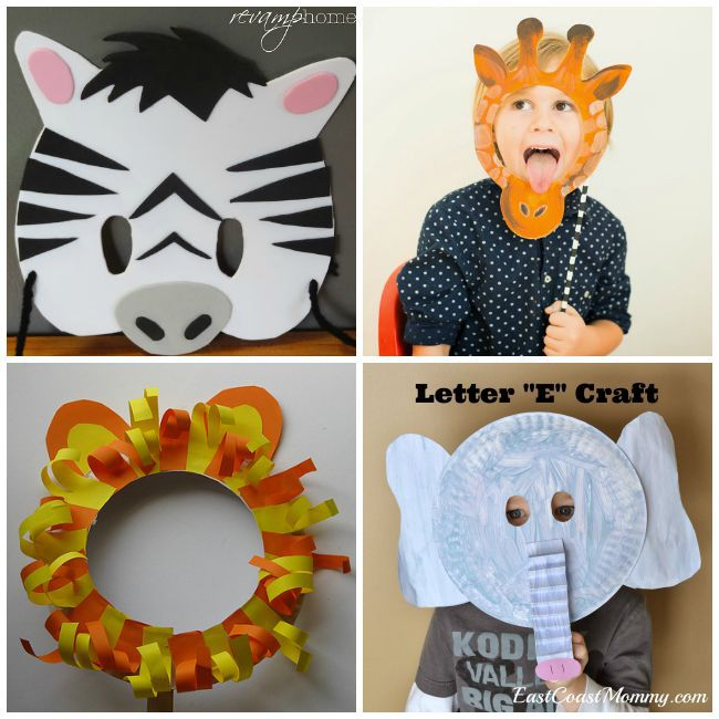 DIY Safari Animal Masks