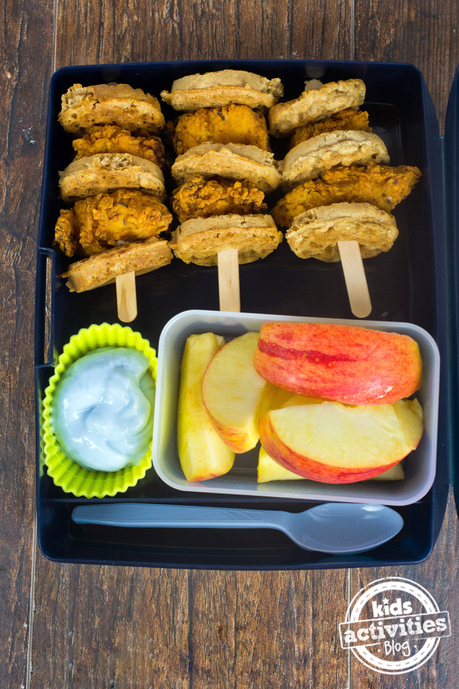 Mini Chicken and Waffles Healthy Kids Lunchbox Ideas