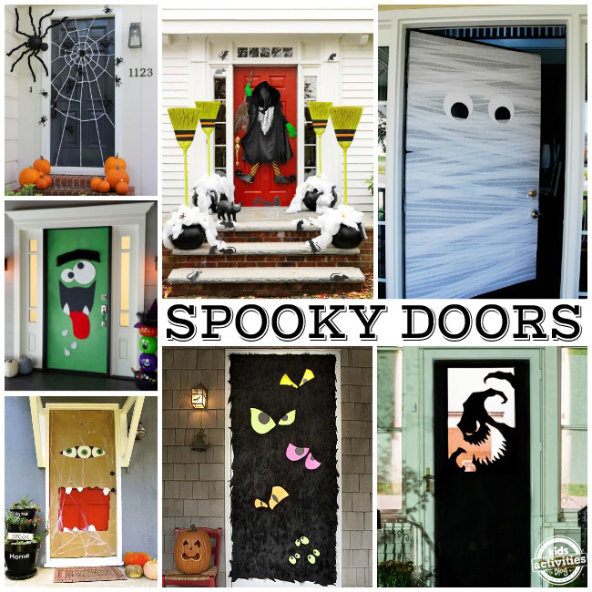15 fun halloween front doors. Black Bedroom Furniture Sets. Home Design Ideas